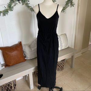 Forever 21 Black Maxi Dress with Tie. Medium
